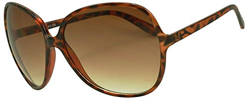 Sunglass Stop- Extra Large Round Oversized Womens Super Big Casual Sunglasses - Shell Tortoise Big Glasses
