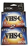 TDK - VHS-C High Grade HG Ultimate Camcorder Blank Media Video Cassette Tape x2