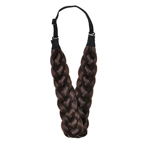 Winopey Synthetic Headband Hairpiece ElasticMulti Color