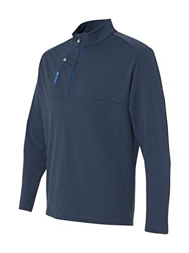 Mens Pullover Golf - AD MENS 1/4 ZIP PULLOVER (RICH BLUE/BRT RY) (L)