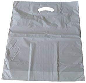 Tragetaschen MDPE mit Grifflochverstärkung Weiss 45 x 55 + 2 x 5 cm (6 Pack = 500 Stück)