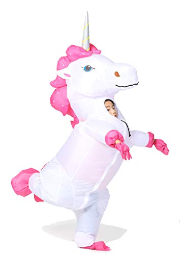 GOPRIME Unicorn Inflatable Costume (Silver Small for