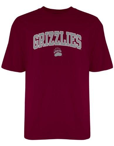 NCAA Montana Grizzlies Gildan T-Shirt, Large, Maroon