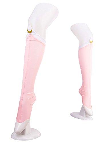 Chibiusa Cosplay Costume (De-Cos Japanese Anime Bishoujo Senshi Sailor Moon SuperS Cosplay Accessory Sailor Chibi Moon Tsukino Chibiusa Pink Socks)