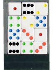 1 Dozen Multi Spot Dice - 16mm by Bunco Game Shop