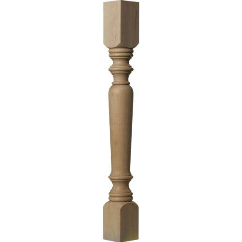Ekena Millwork COL03X03X35LERW 3 3/4-Inch W x 3 3/4-Inch D x 35 1/2-Inch H Legacy Tapered Cabinet Column, Rubberwood -