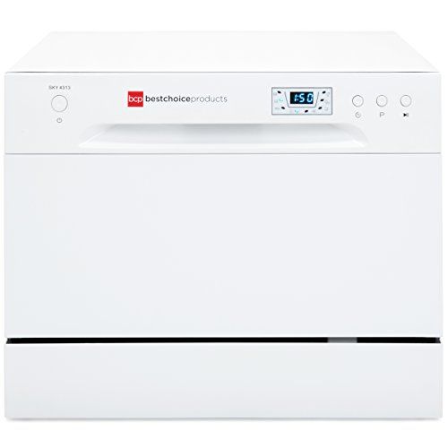 Best Choice Products Small Spaces Kitchen Countertop Portable Dishwasher w/ 6 Wash Cycles and Preset Start Function by Best Choice Products (Image #3)