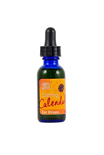 Calendula Ear Drops with Mullein & Garlic - Natural Cleaner Aids in Ear Wax Removal - Infection & Treatment - Great for Kids & Pets - 30mL Bottle ()