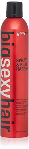 SEXYHAIR Big Spray Play Harder Firm Volumizing Hairspray, 10 oz