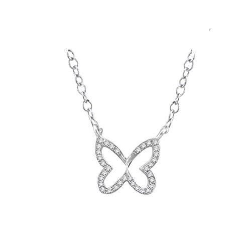 Libertini bracelet argent 925 femme plaque or Jaune serti de Diamant en forme de Pa...