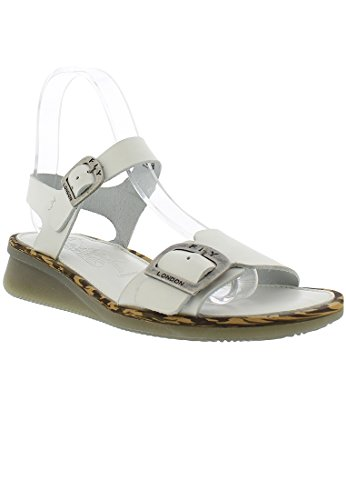Sandali Da Donna In Pelle Bordeaux Bianco Lucido (marrone)