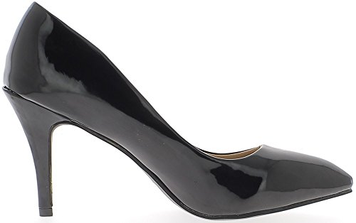 Zapatos tamaño grande sharp color negro de tacón 9,5 cm