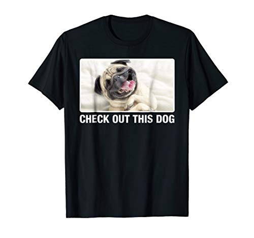 Mens Ask Me To Turn Around Check Out This Dog TShirt - Both Sides Small Black ()