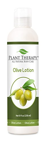 Plant Therapy Olive Lotion 8 oz for Aromatherapy, All Natural, Made with 100% Pure Essential Oils ()