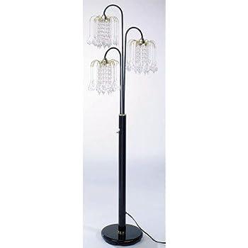 Ore International 6866g Floor Lamp Polished Brass Floor Lamps For Living Room