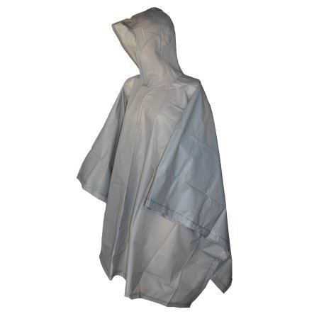 totes ISOTONER Unisex Hooded Pullover Rain Poncho with Side Snaps, Grey Smoke, One Size by totes