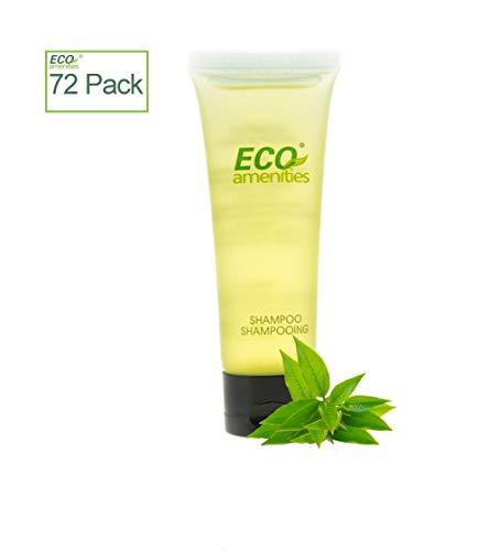 ECO AMENITIES Transparent Tube Flip Cap Individually Wrapped 30ml Hotel Travel Shampoo, 72 Tubes per Case ()