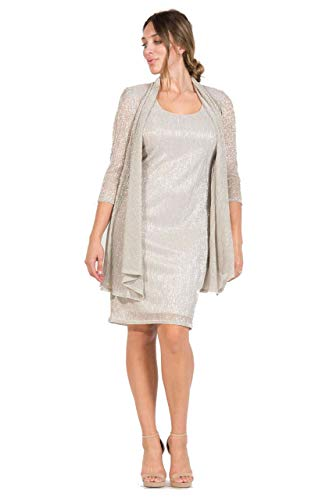 R&M Richards Short Mother of The Bride Dress Champagne
