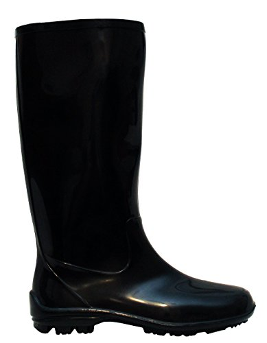 3 UK Boots New Black Rubber Festival Wellington Wellies Girls Black Rain Snow 8 Mud Waterproof Sizes Womens Ladies 6qwH11