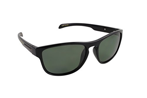 Islander Eyes Zanzibar Polarized, Shiny Black Frame with Grey Lens, Solid ()