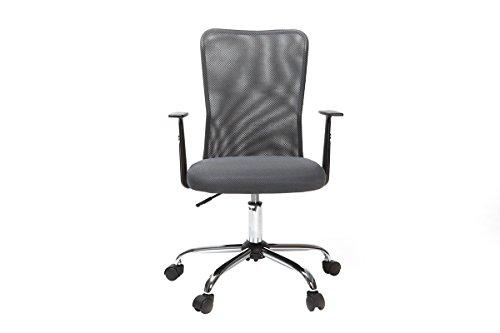 miliboo Designer grey mesh office chair PLUZ by miliboo