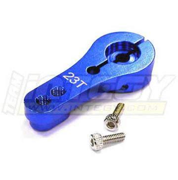 Integy RC Model Hop-ups C22942BLUE Alloy Servo Horn 23T for KO & JR Servo (r=20, 24mm)
