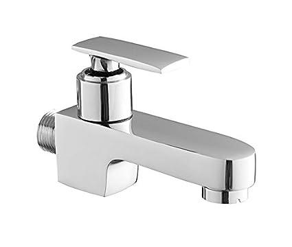 IDG Square SS 2121 Brass Bib Cock (Chrome)