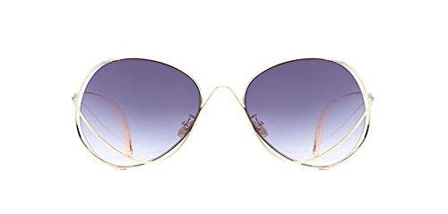 style en de rond Lennon métallique inspirées Gris retro soleil polarisées vintage cercle lunettes du Gradient qSwFXzXd
