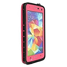 Galaxy S5 Waterproof Case,Waterproof Shockproof Shock Proof Snow Proof SnowProof DirtProof Dirt Proof Durable Full Protection Case Cover With Headphone Adapter for Samsung Galaxy S5 (Pink)