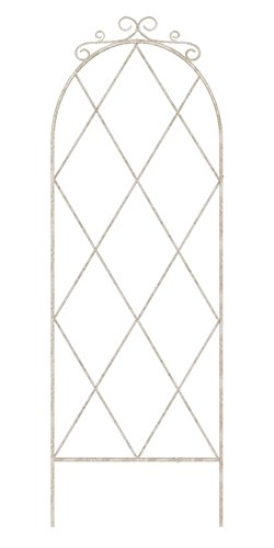 BestNest Panacea French Country Scroll Pot Trellis, Aged White, 36