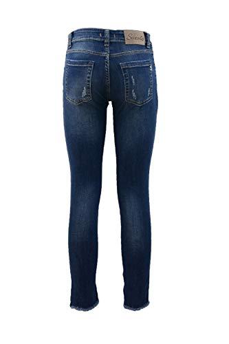 Jeans Bordo Skinny Suerte Frangetta Con dt7qrT7n