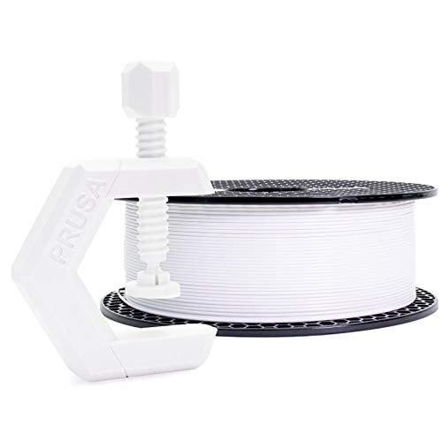 Prusament Prusa PETG Signal White Filament 1.75mm 1kg Spool (2.2 lbs), Diameter Tolerance +/- 0.02mm