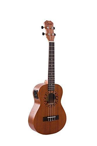 Amazon.com: Caramel CT700 Sapele Tenor Acoustic Electric Ukulele ...