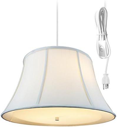 2 Light Swag Plug-in Pendant 19″w Egg Shell