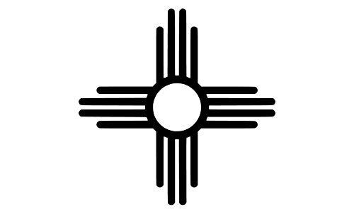 - JMM Industries New Mexico Flag Symbol Vinyl Decal Sticker Car Window Bumper 5-Inches Premium Quality Print UV Resistant Laminate JMM00140BLK5 (Black, 5-Inches)