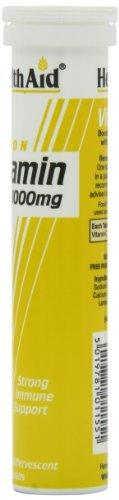 HealthAid Vitamin C 1000mg (Lemon)- 20 Effervescent Tablets