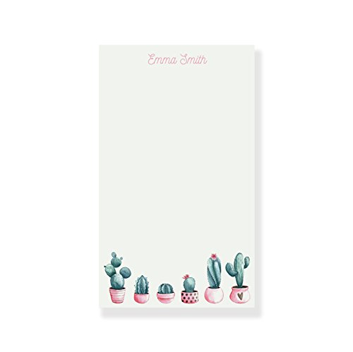 Personalized Notepads Girls, Succulent Notepad, Cactus Notepad, Personalized Letter Writing Set -