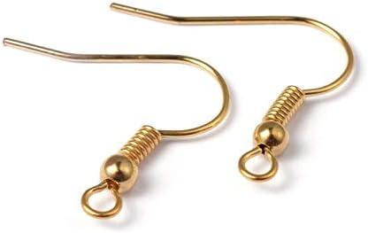 100pcs 304 Stainless Steel Earring Hook DIY Finding 17mm Ear Wires Fish Hook
