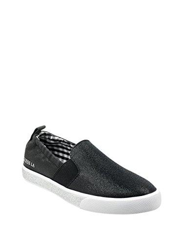 GUESS Women's Maxwell Sneaker, Black, 8.5 M US