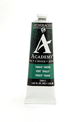 Grumbacher Academy Oil Paint, 150 ml/5.07 oz, Thalo Green (Blue (Academy Oil Paint)