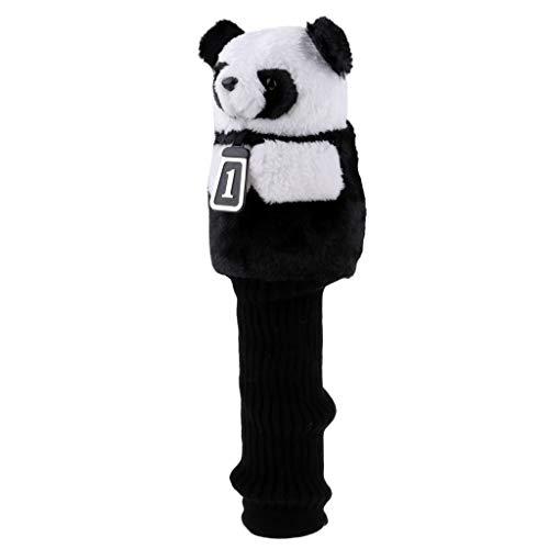 Prettyia Golf Club Wood Driver Headcover Head Cover Replacement - 6 Panda