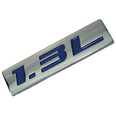 Chrome/Blue Metal 1.3L Engine Race Motor Swap Emblem Badge For Trunk Hood Door for Plymouth - Plymouth Trunk Valiant