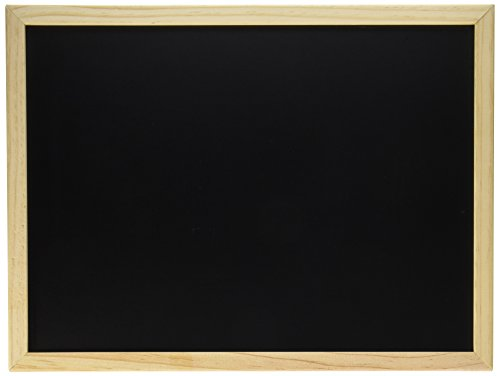Darice Erasable Blackboard with Wood Frame–Use with Chalk or Chalk Markers–Unfinished Wood Frame Ready to Decorate–Perfect for First Day of School, Baby Milestones, Events, Chalk Art and More, -