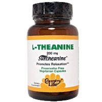 COUNTRY LIFE VITAMINS L-THEANINE W/B-6, 60 VCAP by Country Life