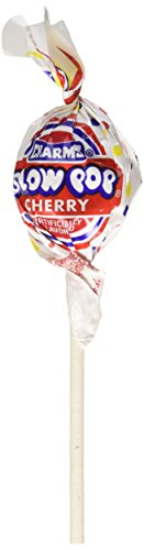 Charms Blow Pops Cherry Lollipops 48 Lollipops/box, 31.2 Ounce (Blo Pops)