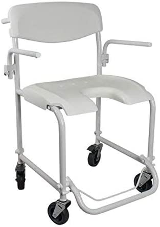 Silla de ruedas para baño | Ducha con reposabrazos | Reposapiés plegable | Invacare