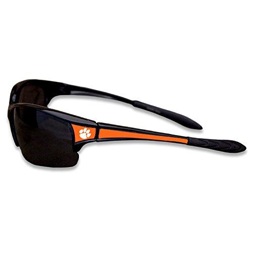 Clemson Tigers Black Sports Elite Style Sunglasses with Logo on the - Sunglasses Clemson