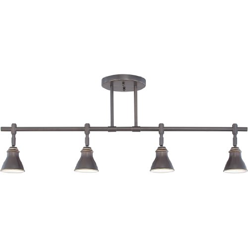 (Quoizel QTR10054PN Farmhouse Track Light Kit, 4-Light, Halogen 200 Watts, Palladian Bronze (14