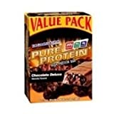 Pure Protein Chocolate Deluxe Value Pack,6 Count 50 Gram Bars (Pack of 36 Bars) For Sale