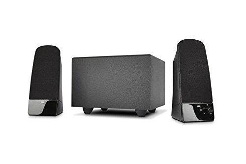 Cyber Acoustics CA-3051 14W Peak Power 2.1 Speaker System with Subwoofer